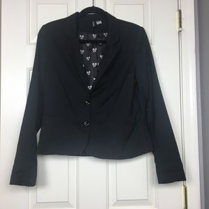 Divided Black Blazer Ribbon Lining Sz 12